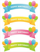Colorful birthday ribbons — Stock Vector