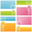 Colorful stars backgrounds — Image vectorielle