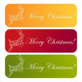 Colorful christmas banners — Stock Vector