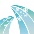 Winter snowflakes background - Stock vektor