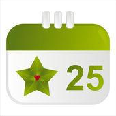 ícone de calendário de natal — Vetorial Stock