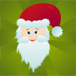 Santa claus over green background — Stock Vector #7921836