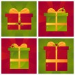 Christmas presents backgrounds — Stock Vector