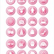 Royalty-Free Stock Vector Image: Pink web signs