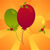 Weihnachten farbige luftballons hintergrund — Stockvektor
