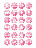 Pink web signs — Stock Vector