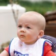 A baby frowning — Stock Photo
