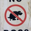 Stock Photo: A no dogs sign