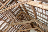 Interior roof beams — Stock Photo