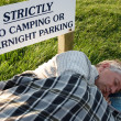 Sleeping rough — Stock Photo