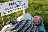 Sleeping rough — Stok fotoğraf