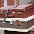 Stock Photo: Old style suitcases