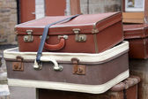 Old style suitcases — Stock Photo