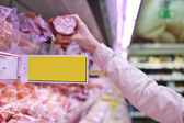 Meat shopping — Stock Photo