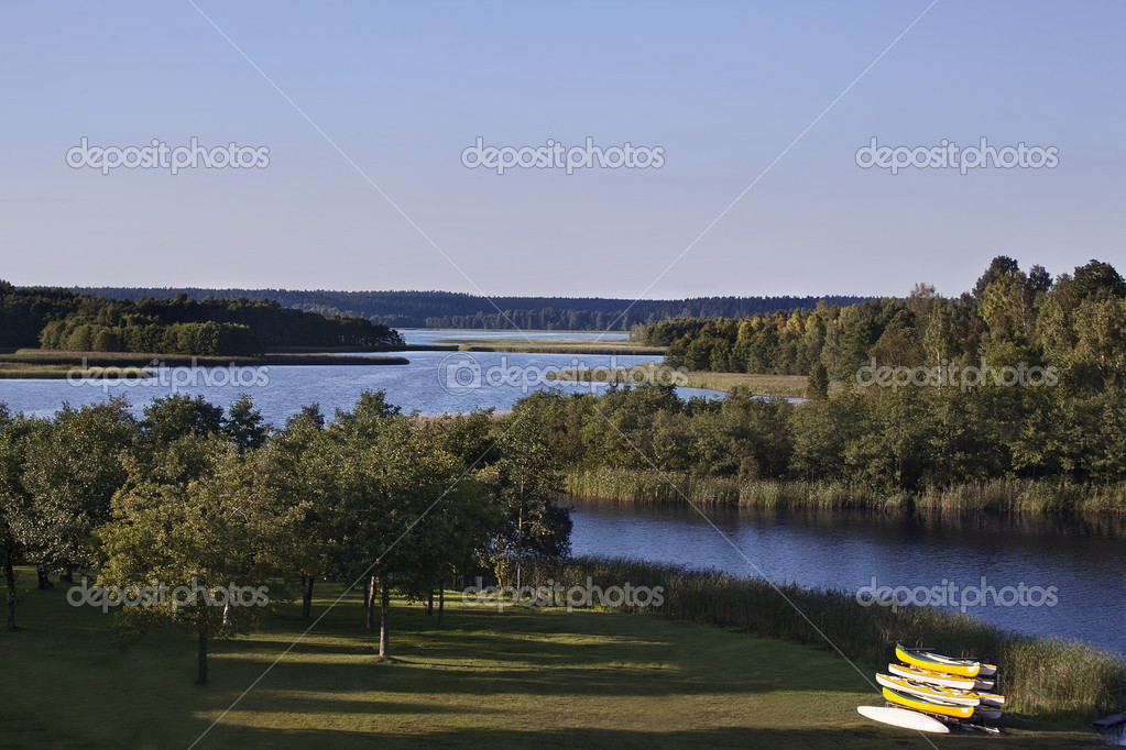 Wigry Lake in Wigry National Park summer time — Stock Photo #7771922