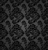 Seamless pattern, curtains floral, vector — Vecteur