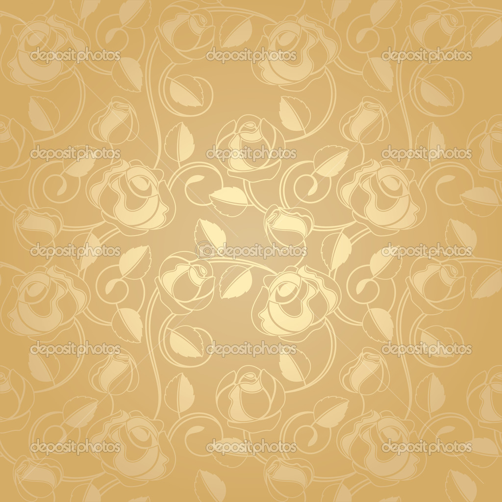 Seamless pattern - floral background, gold — Stock Vector © ecelop ...