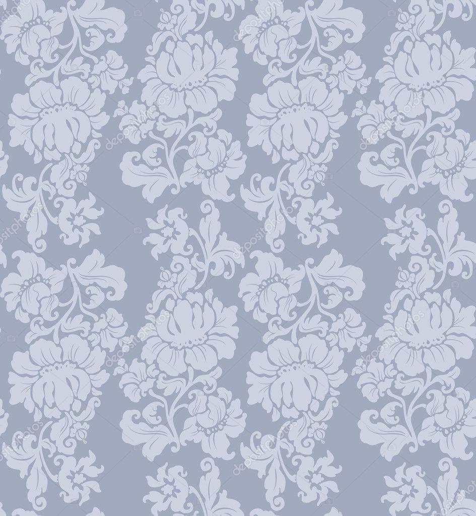 patrn sin costuras adornos florales cortinas u vector de ecelop