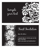 Flower lace, greeting card, space for your text — Stock Vector