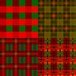 Set plaid patterns, tartan, fabric textile — Stock Vector
