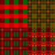 Set plaid patterns, tartan, fabric textile — Stock Vector #7463139