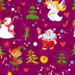Christmas seamless wallpaper pattern, New Year's background — Stock Vector