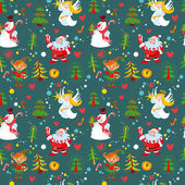 New Year's background, Christmas seamless wallpaper pattern — Stock Vector
