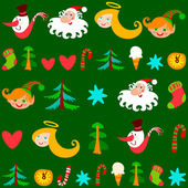 Christmas background, vector — Stockvektor