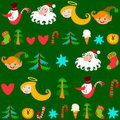 Vánoční pozadí, vektor — Stock vektor