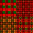 Set tartan, plaid patterns, fabric textile — Stock Vector