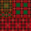Stock Vector: Set tartan, plaid patterns