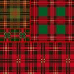 Set tartan, plaid patterns — Stock Vector