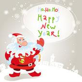 Santa claus greeting card 10eps — Stock Vector