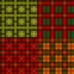 Set plaid patterns, tartan, vector — Stock Vector