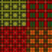 набор плед узоры, однотонного, вектор — Cтоковый вектор
