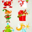 Set, santa claus and Friends — Stock Vector