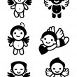 Royalty-Free Stock Vector Image: Cupids set