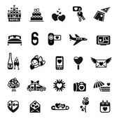 Love icon set — Stock Vector