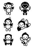 Cupids set — Stockvektor
