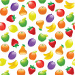 Fruit to background, seamless pattern — Stock Vector