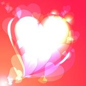 Hearts, speech bubble, vector background — Stock Vector