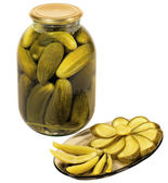 Pickles - delicious snack — Stock Photo