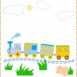 Babies train — Stock Vector
