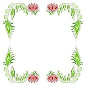 Floral frame_1 — Stock Vector