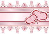 Valentine postcard_frame_2 — Stock vektor