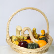 Basket of Vegetables and Fruit — Stock Photo