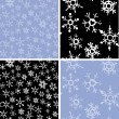 Stock Vector: Snowflakes pattern