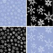Vzor sněhové vločky — Stock vektor