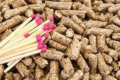 Wood pellets. — Stock Photo