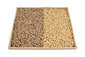 Wood pellets. — Stockfoto